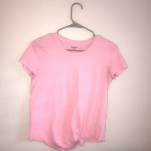 Pink tie Madewell t-shirt